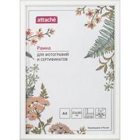 Рамка Attache A4 21x30 см пластиковый багет 14 мм белая (ПЭТ)