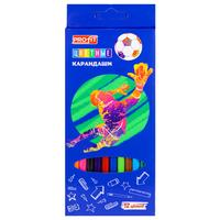 Карандаши цветные Проф-пресс Футбол 12 цветов шестигранные