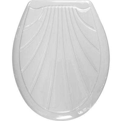 Сиденье для унитаза Ракушка белое 104-403-00