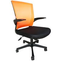 Кресло офисное Easy Chair 316 оранжевое/черное (сетка/ткань, пластик)
