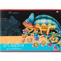 Альбом для рисования Проф-пресс Хамелеон на ветке А4 24 листа