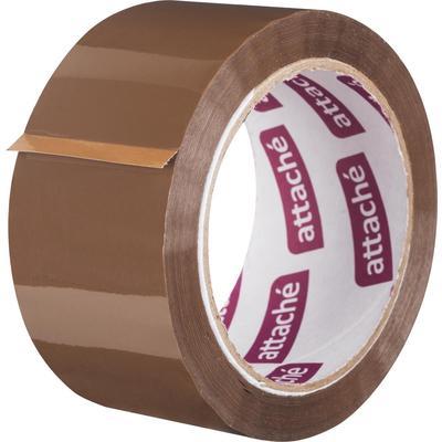 Клейкая лента упаковочная Attache 50 мм x 66 м 50 мкм коричневая (морозостойкая)