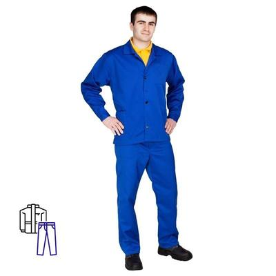 Костюм рабочий летний мужской л01-КБР васильковый (размер 60-62, рост 182-188)