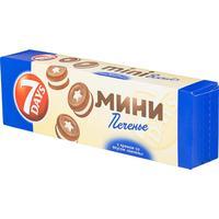 Печенье сдобное 7 days mini biscuits с ванильным кремом 100 г