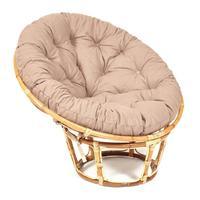 Кресло Papasan Eco Skin с подушкой (светло-бежевый, 1150х980х930 мм)