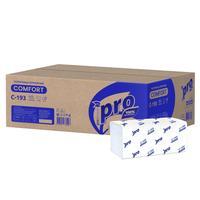 Полотенца бумажные листовые Pro V-сложения 1-слойные 20 пачек по 250 листов (артикул производителя C193)