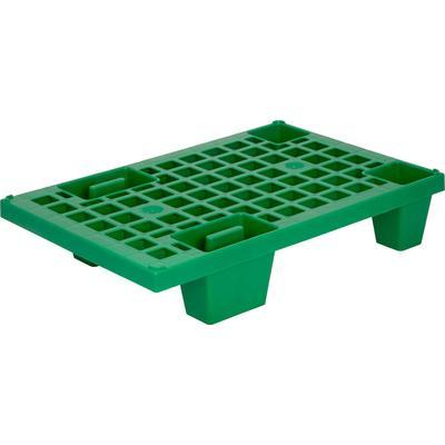 Паллет из ПНД зеленый 600х400х130 мм