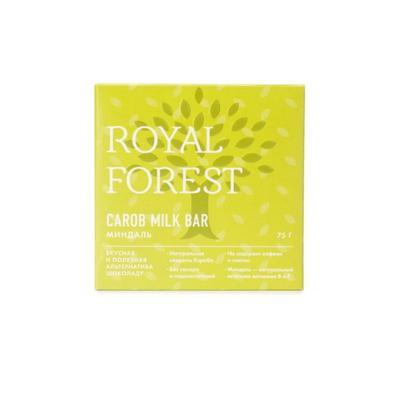 Шоколад кэроб Royal Forest Carob Milk Bar миндаль 75 г