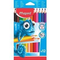 Карандаши цветные Maped Pulse Jumbo 12 цветов трехгранные