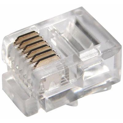 Джек телефонный Rexant 6P6C (100 штук в упаковке)