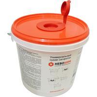 Салфетки для экспресс-дезинфекции сухие Невохим мельтблаун (200 штук в контейнере 3 л)