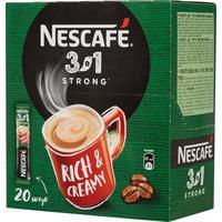 Кофе порционный растворимый Nescafe 3 в 1 крепкий 20 пакетиков по 14.5 г