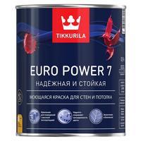 Краска моющаяся Tikkurila Euro Power 7 A белая матовая 0,9 л