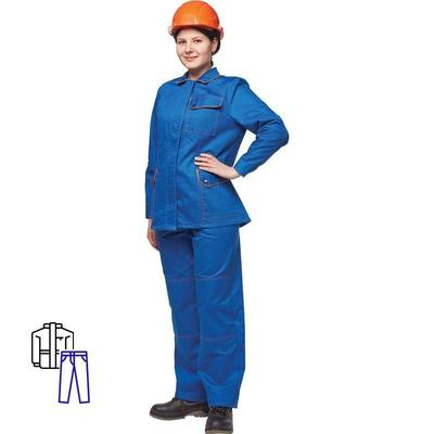 Костюм рабочий летний женский л06-КБР васильковый (размер 48-50, рост 158-164)