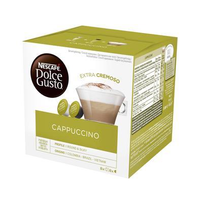 Кофе в капсулах для кофемашин Nescafe Dolce Gusto Cappuccino (16 штук в упаковке)
