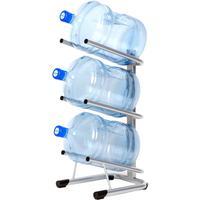 Стеллаж для бутилированной воды Бридж-3 на 3 тары по 19л серый