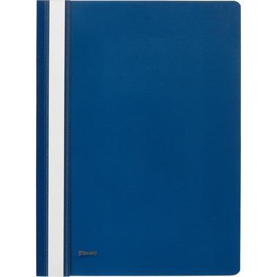 Скоросшиватель пластиковый Комус А4 до 100 листов синий (толщина обложки 0.13/0.18 мм)