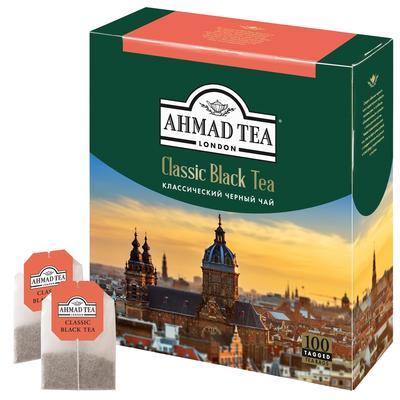 Чай Ahmad Tea классический черный 100 пакетиков