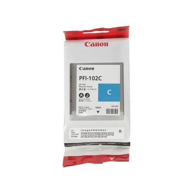 Картридж струйный Canon PFI-102C 0896B001 голубой оригинальный