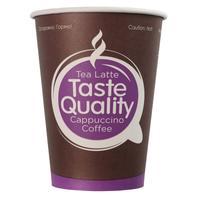 Стакан одноразовый бумажный 300 мл 50 штук в упаковке TasteQuality
