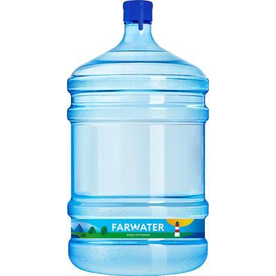 Бутилированная питьевая вода 'FARWATER' 19 л, возвратная тара (Ребрендинг 'Настоящая вода')