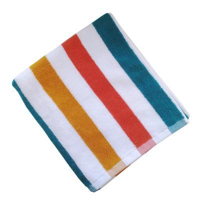 Полотенце махровое Belezza Пляж 70х130 см 430 г/кв.м оранжевое/желтое/зеленое 5 штук в упаковке