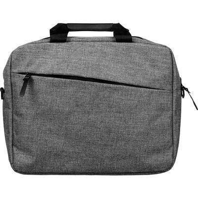 Конференц-сумка из полиэстера серая (38x28x8 см)