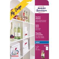 Этикетки самоклеящиеся для бутылок Avery Zweckform My Design белые 90x120 мм (4 штуки на листе А4, 5 листов, артикул производителя MD4001)