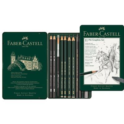 Набор карандашей чернографитных Faber-Castell Pitt Graphite 11 штук
