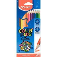 Карандаши цветные Maped 12 цветов трехгранные