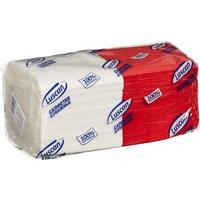 Салфетки бумажные Luscan Profi Pack 24х24 белые/красные 1-слойные 250  штук в упаковке