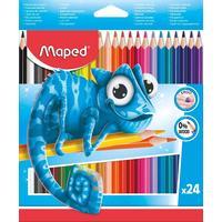 Карандаши цветные Maped Pulse 24 цвета трехгранные