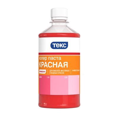 Колер-паста Текс Универсальная №01 красная 0.5 л
