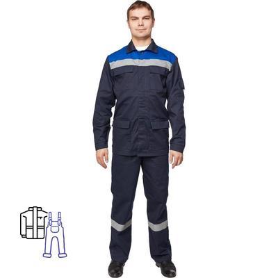 Костюм рабочий летний мужской л05-КПК с СОП синий/васильковый (размер 52-54, рост 170-176)