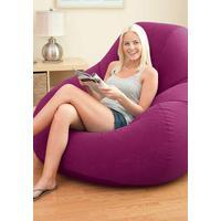 Кресло надувное Intex Deluxe Beanless Bag 68584 бордовое