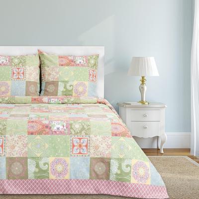 Постельное белье Этель Лоскуты (1.5-спальное, 2 наволочки 70x70 см, бязь)