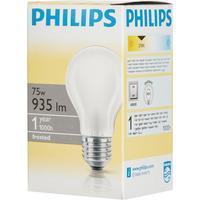 Лампа накаливания Philips 75 Вт E27 грушевидная матовая 2700 К теплый белый свет