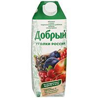 Сок Добрый Уголки России фруктово-ягодный 1 л