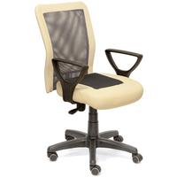 Кресло офисное CH 320 бежевое/серое (искусственная кожа/ткань/сетка/пластик)