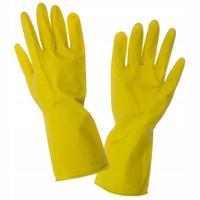 Перчатки хозяйственные латексные с х/б напылением (размер L)