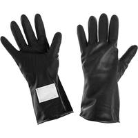 Перчатки КЩС тип 1 из латекса черные (размер 2, XL, К20Щ20)