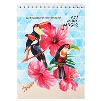 Скетчбук Проф-пресс Туканы в цветах А5 20 листов