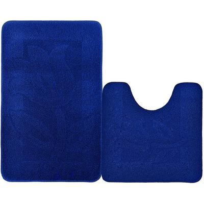 Набор ковриков для ванной 50х50 см 1 штука 50х80 см 1 штука синий