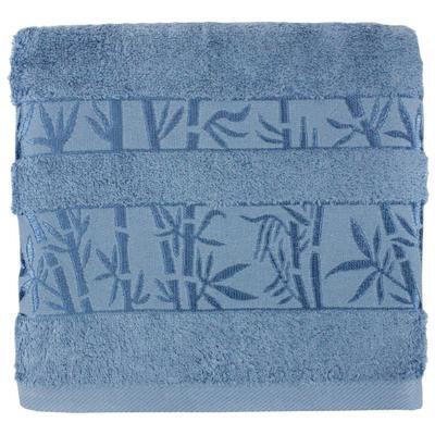 Полотенце махровое Belezza Бамбук 50x80 см 430 г/кв.м синее 5 штук в упаковке