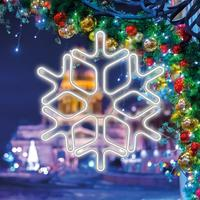 Фигура светодиодная неоновая Neon-Night Снежинка белый свет 720 светодиодов 60 см