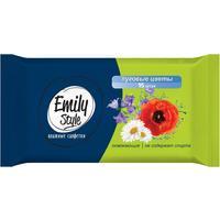 Влажные салфетки освежающие Emily Style Луговые цветы 15 штук в упаковке