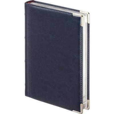 Ежедневник полудатированный Bruno Visconti Boss искусственная кожа A5+ 208 листов темно-синий (145х217 мм)