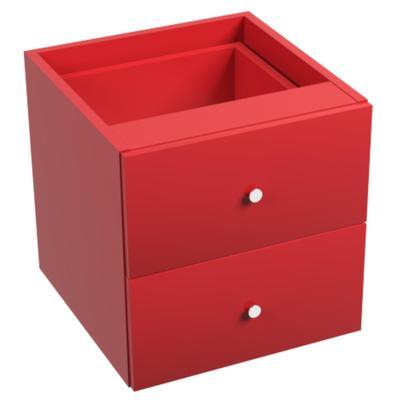 Вставка для стеллажа Точка Роста с двумя ящиками (красный, 378х392х378 мм)