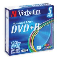 Диск DVD+R Verbatim 4,7 GB 16x (5 штук в упаковке)