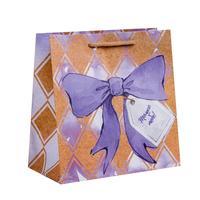 Пакет подарочный из крафт-бумаги Сладкая вата (22x22x11 см, 6 штук в упаковке)